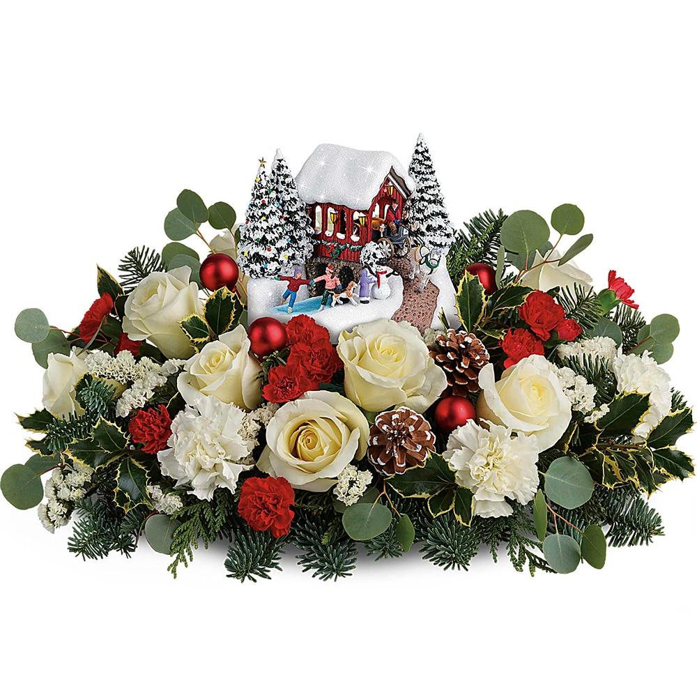 96 Fun Facts About Your Favorite Bridal Designers: Thomas Kinkade's Christmas Bridge Bouquet -2018