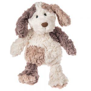 plush beige and brown puppy